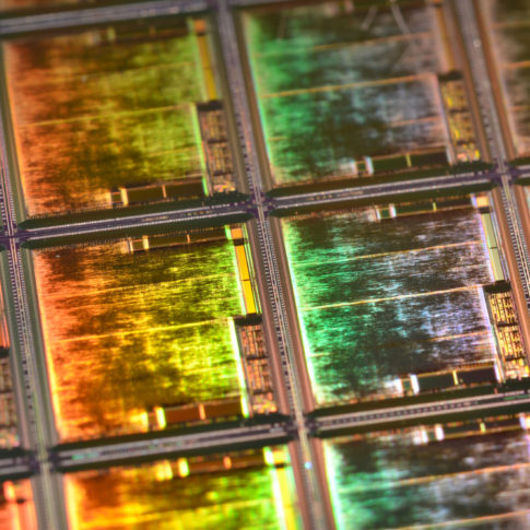 Gold Silicon Wafer with Spectrum